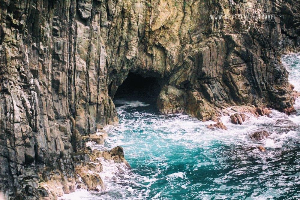 jaskinia w morzu, Liguria, Cinque Terre