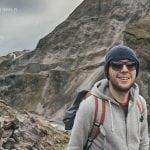 Jarek na trasie do obozu w Landmannalaugar na Islandii