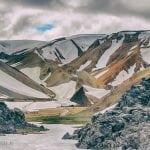 widok na zbocza landmannalaugar na Islandii