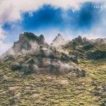 parujące fumarole na Islandii