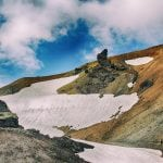 zbocze wulkanu Brennisteinsalda w górach tęczowych na Islandii