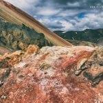 kolorowe zbocza wulkanu na Islandii