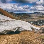 stok na Islandii przykryty czapami śniegu
