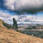 skała w górach na Islandii