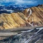 tęczowe góry na Islandii