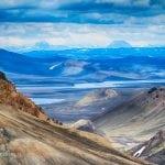 panormala tęczowych, kolorowych gór na iIslandii