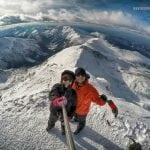 polskie tatry, selfie na świnicy zimą, panorama zimowych gór