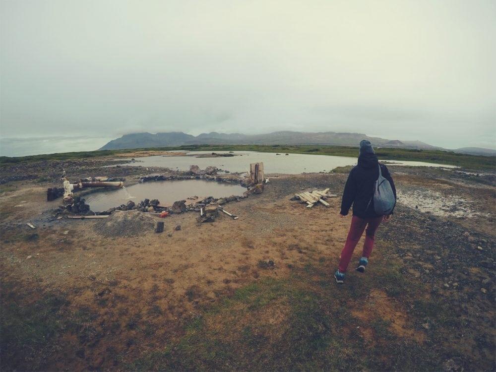 Landbrotalaug gorące źródło na Islandii hotpot