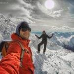 selfie w tatrach, miłość w zakopanem, zima w tatrach, zimowa wyparawa na świnice,spacer w góry zimą