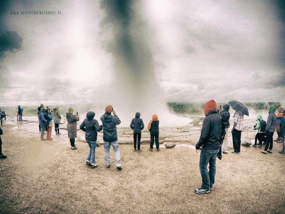 gejzer wybuch islandia
