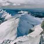 Turnia pośrednia, widok ze świnicy zimowe wejście, panorama ze szczytu