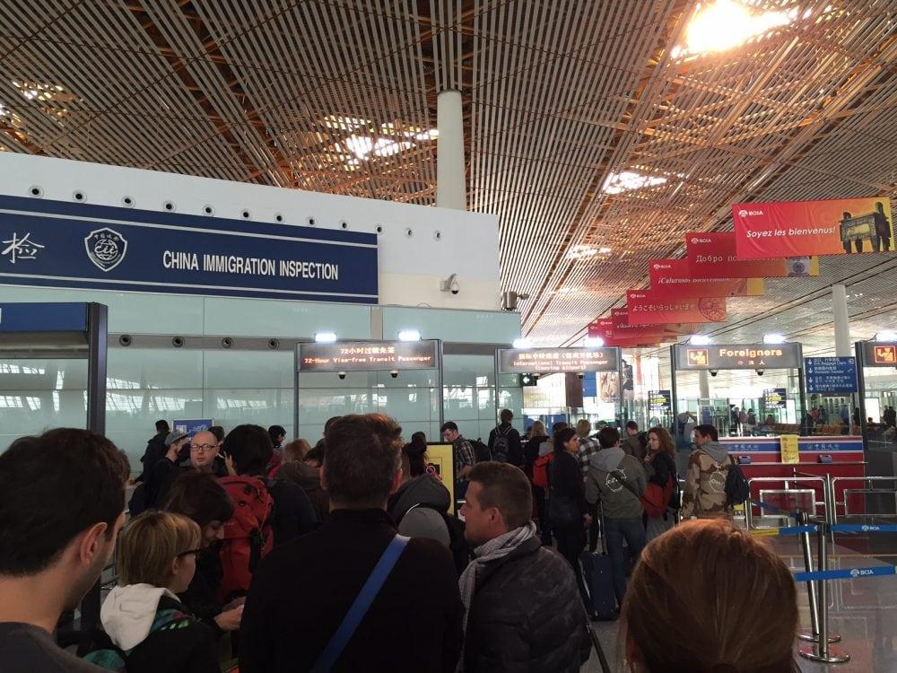 kolejka po wize na lotnisku w pekinie