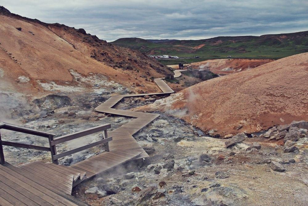 Krýsuvík- Seltún pole geotermalne islandia