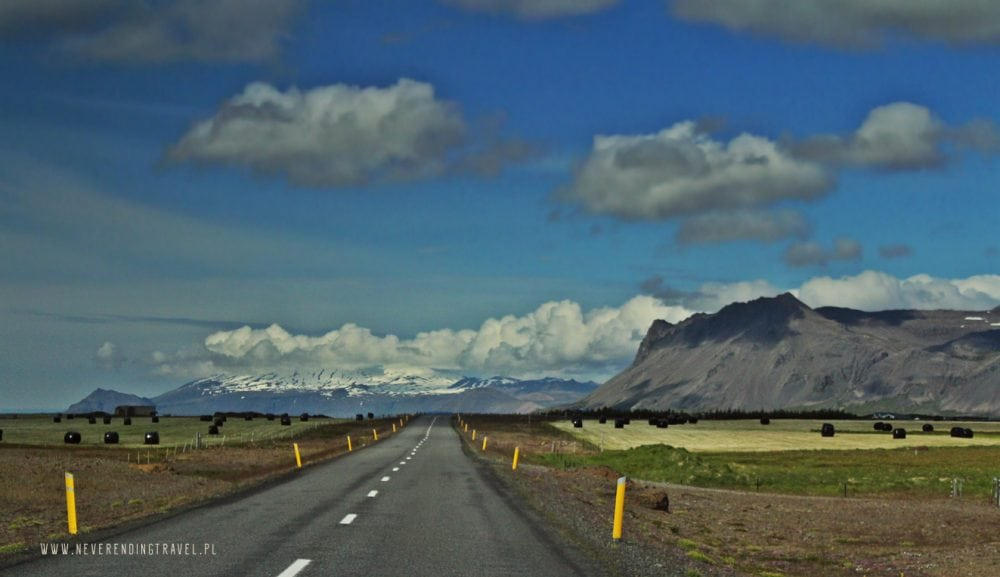 droga asfaltowa na Islandii, góry islandzkie, panorama z islandii, droga w góry