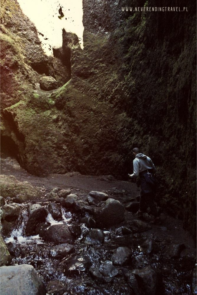 islandia Kanion Rauðfeldar Rauðfeldsgjá Gorge wnętrze kanionu, rzeka