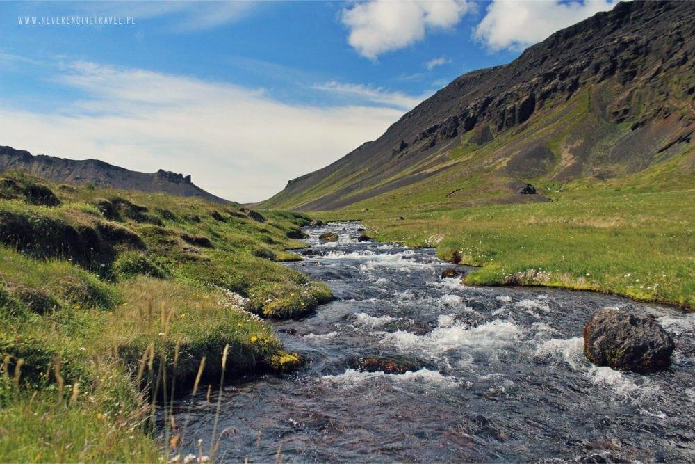islandzka rzeka Kanion Rauðfeldar Rauðfeldsgjá Gorge