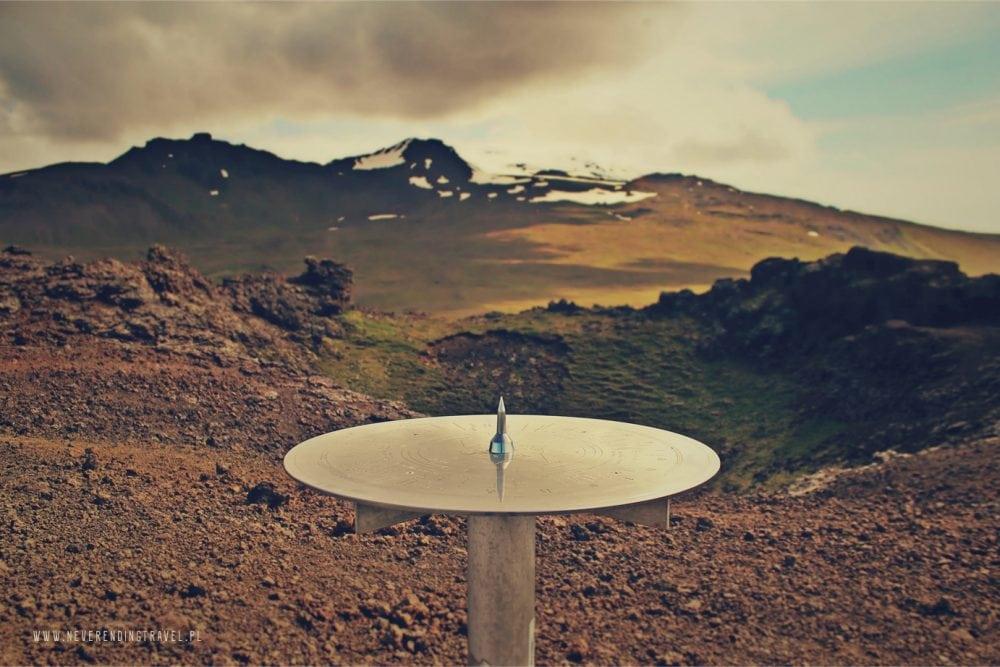 krater wulkanu saxholl na Islandii, volcano