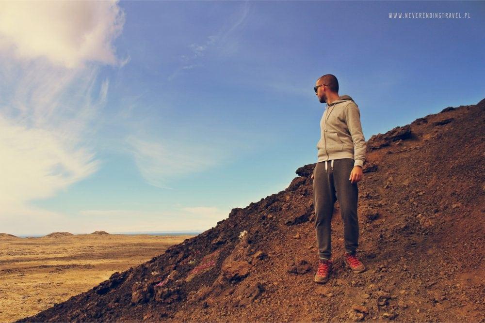 na zboczu wulkanu saxholl na Islandii
