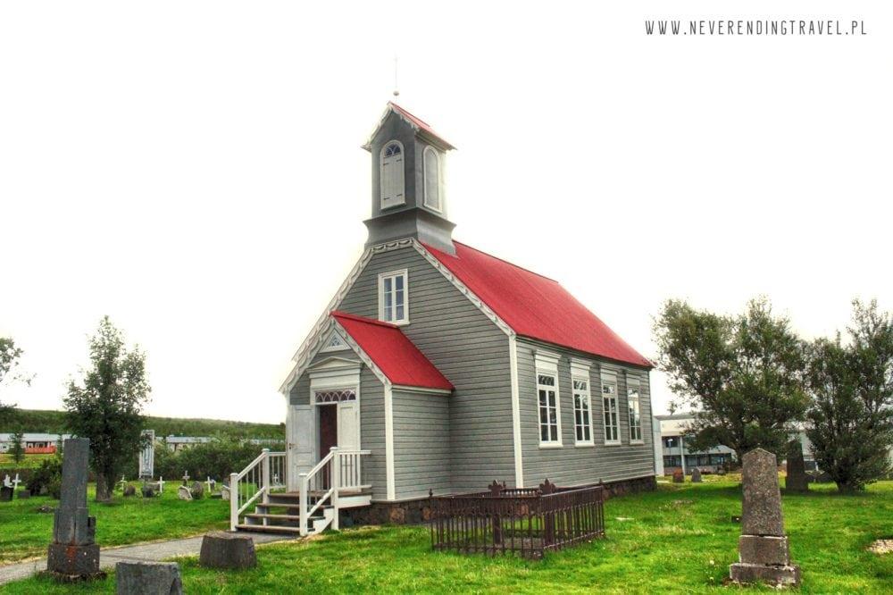 kościół przy Snorralaug na Islandii