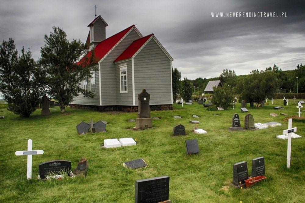 islandzi cmentarz za kościołem w Reykholt, Snorralaug