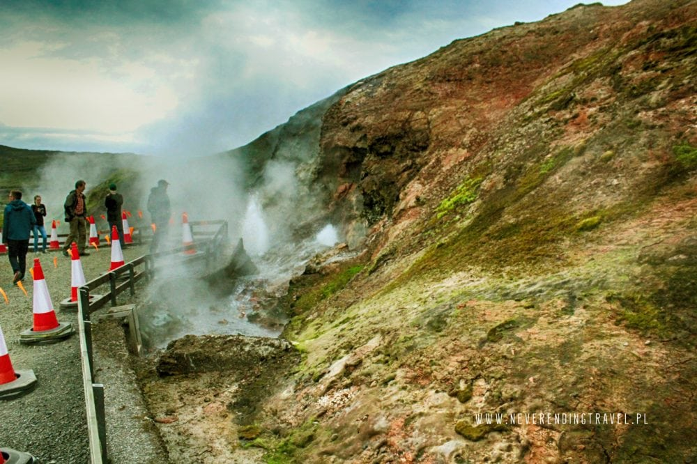 gorące źrodło na Islandii Deildartunguhver