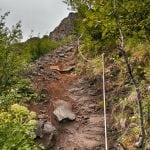 trekking do Glymur szlak pieszy, skały, liny, na islandii