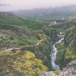 rzeka Botnsá z góry, Islandia