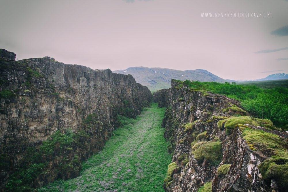 Park Narodowy Thingvellir rów kontynentalny