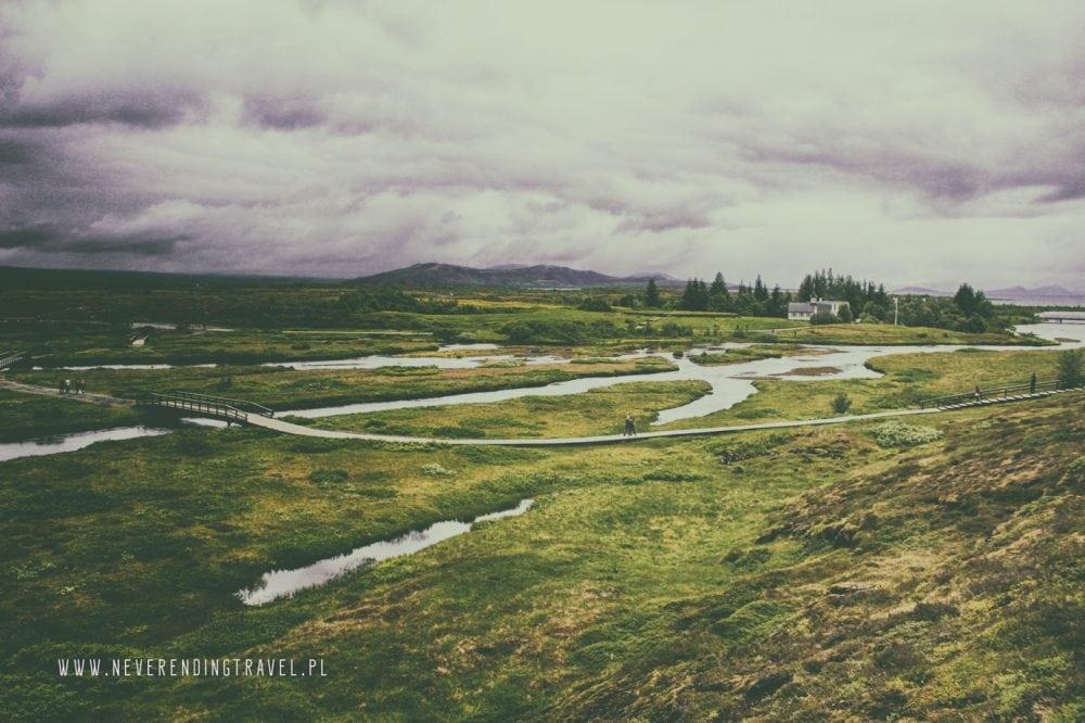 islandia, panorama na Park Narodowy ÞingvellirParque Nacional de Þingvellir