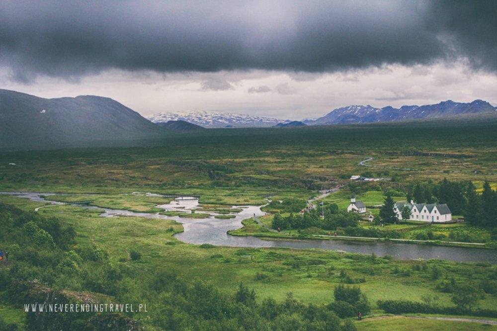 Park Narodowy ÞingvellirParque Nacional de Þingvellir panorama parku na islandii