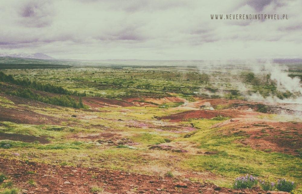 pola wokół Geysiru, islandia