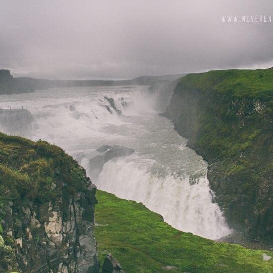 wodospad Gulfoss na islandii