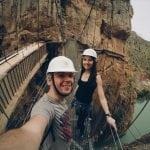 na-wiszącym-moście-w-El Caminito del Rey-neverendingtravel.pl