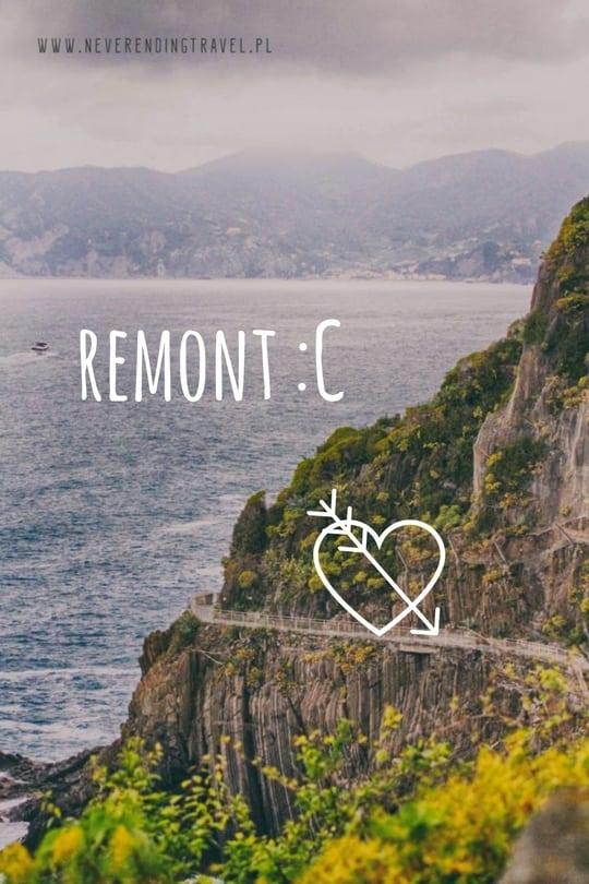 remont ścieżki miłości via dell'Amore w Cinque Terre