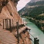 widok-z-trasy-El Caminito del Rey-na-rzekę-Guadalhorce_neverendingtravel.pl_