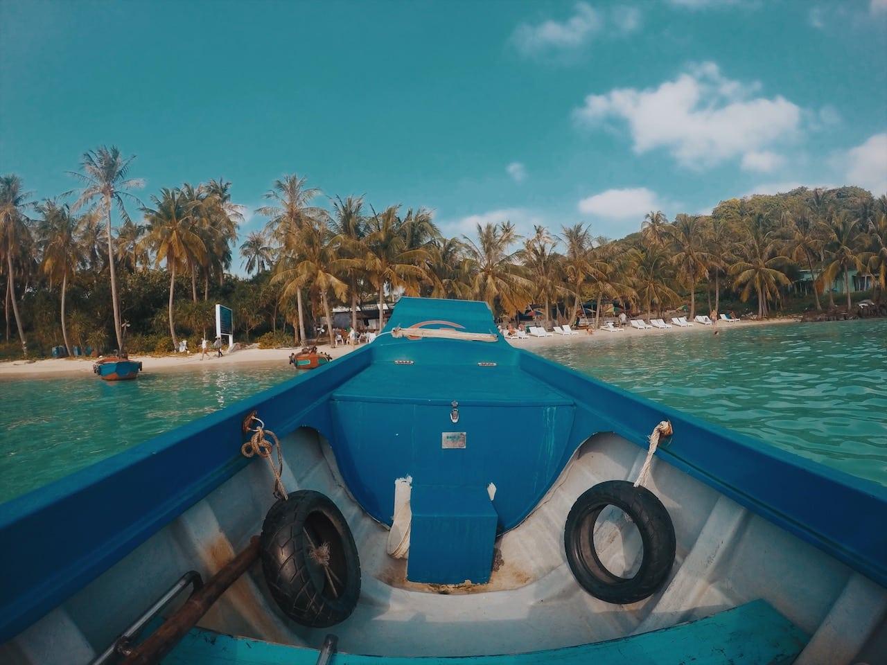 wynajęta prywatna łódź, na archipelag an thoi, wyspa phu quoc wietnam neverendingtravel.pl