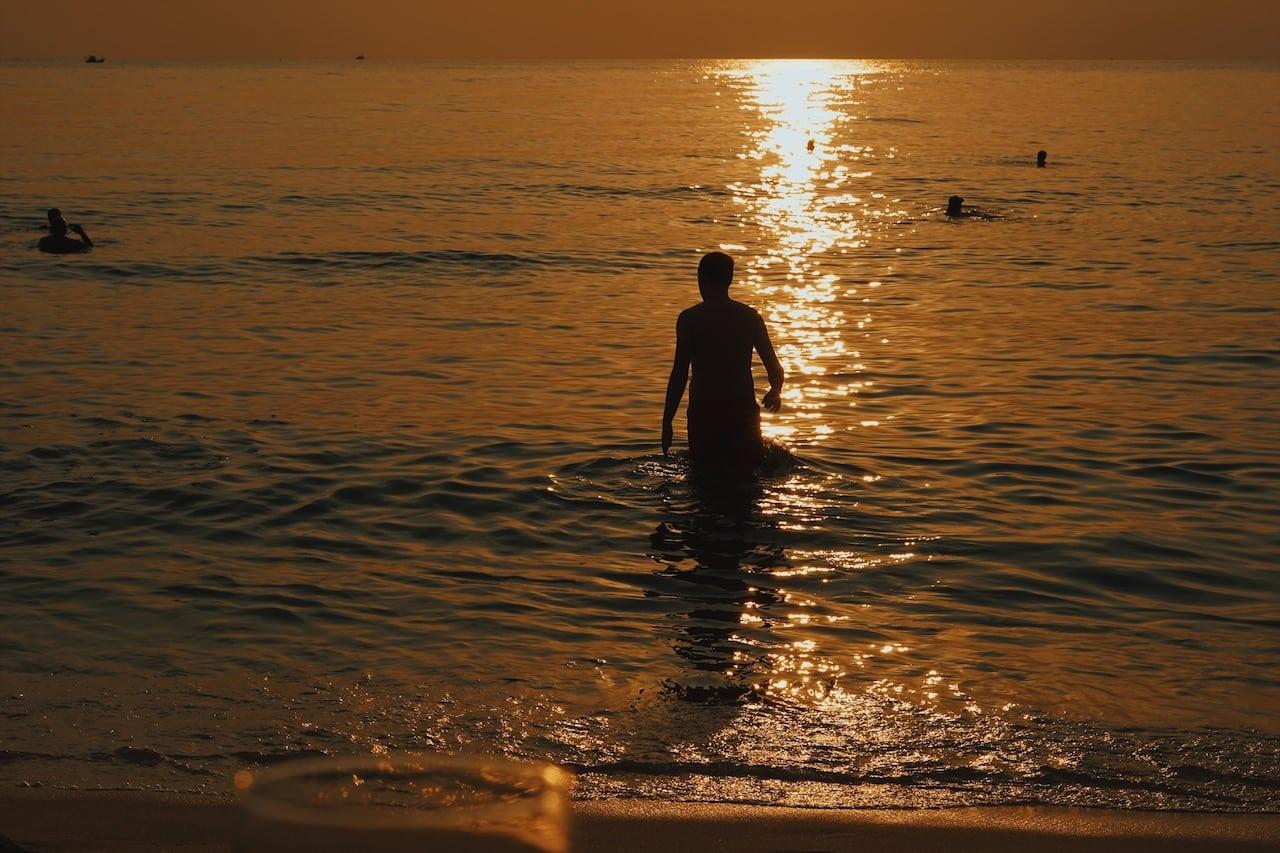zachód słońca long beach, plażą morze wyspa phu quoc wietnam neverendingtravel.pl