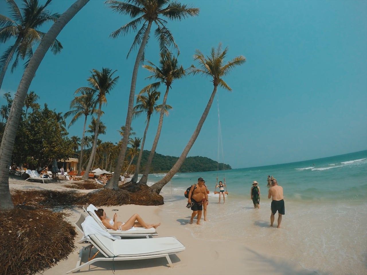 hustawka na sao beach wyspa phu quoc wietnam neverendingtravel.pl