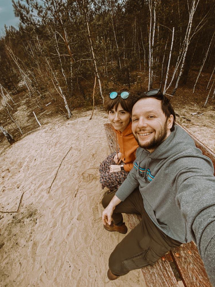 góry chobockie wydma śródlądowa biała góra na jeden dzień z warszawy wypad na weekend ławeczka w lesie ciekawe miejsce na mazowszu nietypowe